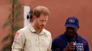 Prince Harry visits Angola de-mining project, in Princess Diana's footsteps