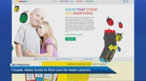 'Bettersocks' initiative raises awareness for paediatric brain cancer (05:22)