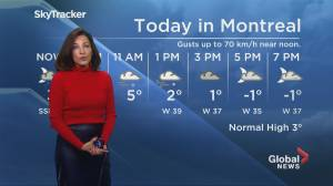 Global News Morning weather forecast: Friday November 22, 2019