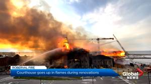 Fire sweeps through courthouse building in Quebec's Saguenay-Lac-St-Jean (00:25)