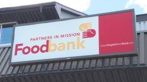 """Covid forces Kingston's Partners in Mission Food Bank annual spring """"food blitz"""" to move on line. (01:25)"""