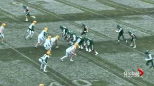 Saskatchewan Huskies football player bounces back after serious injury suffered 2 seasons ago (01:41)