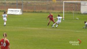 Gabruch leading Saskatchewan Huskies both on and off of the pitch (01:56)