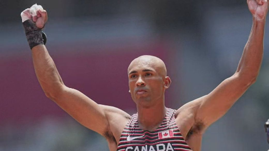 Click to play video: 'Ontario decathlete Damian Warner wins gold, shatters records'