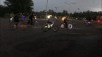 Cyclists decorate bikes with bright lights for 'Glow Ride' in Peterborough