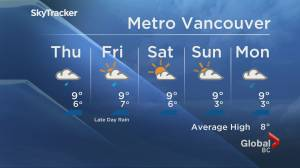 B.C. evening weather forecast: Nov. 25 (00:49)