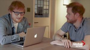 Prince Harry, Ed Sheeran co-star in funny World Mental Health Day video