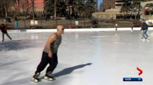 Warm Calgary weather puts an early end to skating season (02:23)