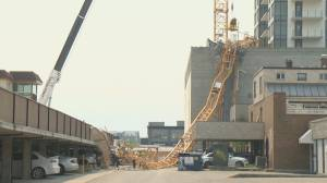 Four construction workers along with one nearby office worker killed when a crane collapses in downtown Kelowna (02:21)