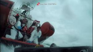 Video shows dramatic rescue in Mediterranean after migrant boat capsizes