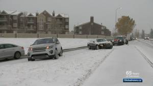Calgary emergency crews kept busy after snowstorm
