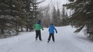 Here's a sneak peak at Echo Valley Provincial Park's 2-kilometre skating trail (01:15)