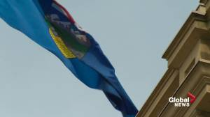 Referendum question on equalization introduced in the Alberta legislature (01:42)
