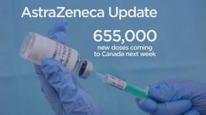 B.C. government decides to hold remaining doses of AstraZeneca vaccine for second doses (01:57)