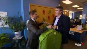 Paul donates his old suite to Job Junction