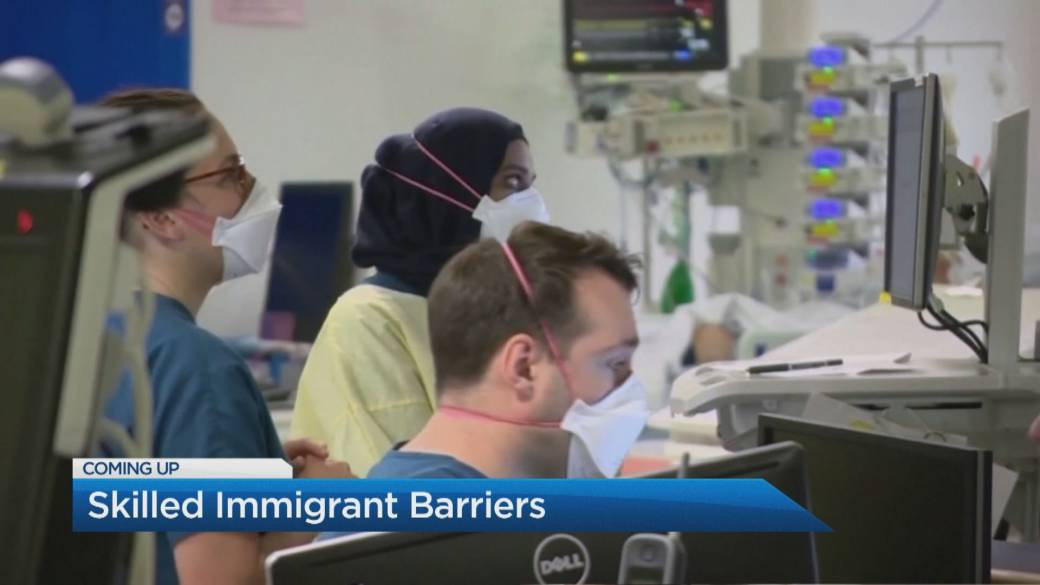 Click to play video: 'Foreign-trained doctors face barriers to work on the frontlines of the pandemic in Canada'