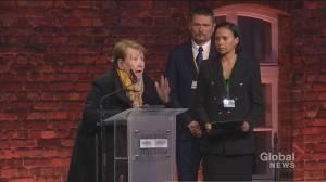 Holocaust survivor recalls her experience at Auschwitz as 8-year-old