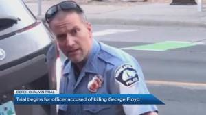 Jury selection begins in the trail for former officer accused of murdering George Floyd (04:07)