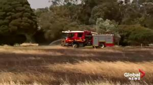 Bushfires spread to another state in Australia