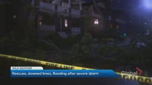 Thunderstorms cause flooding at Toronto Beaches neighbourhood (02:39)