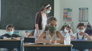 B.C. officials make announcement about enhanced COVID-19 safety rules in K-12 schools (08:16)