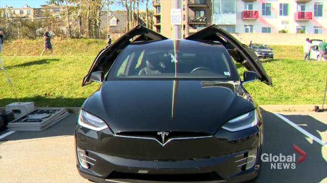 Electric vehicles on display and in demand