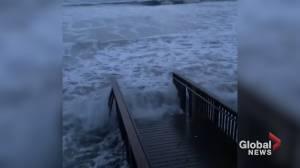 Hurricane Delta to make landfall, nears Texas and Louisiana (02:42)