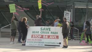 Surrey council approves contentious road through Bear Creek park (02:00)