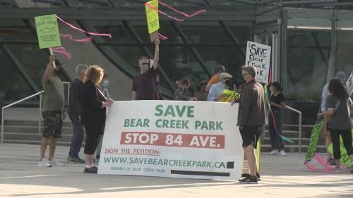 Surrey council approves contentious road through Bear Creek park