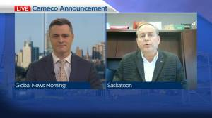 Cameco announcing charity relief (03:50)