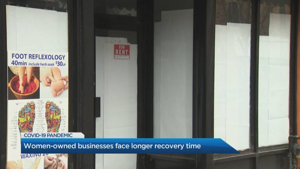 Click to play video 'Women-owned businesses face longer recovery time: report'