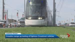 Crosslinx ramps up testing of Eglinton Crosstown vehicles (01:45)