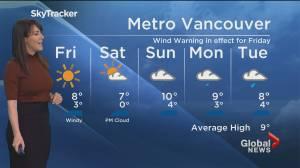 B.C. evening weather forecast: Feb. 25 (01:49)