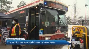 Toronto begins using TTC buses for COVID-19 testing (02:22)