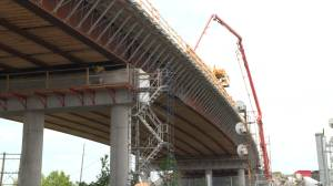 Kingston's John Counter rail overpass continues to take shape
