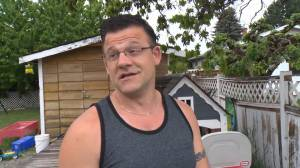 Stephan Bouffard describes the sound of Snowbird plane crashing into neighbours home on May 17, and talks about the pandemonium that ensued.