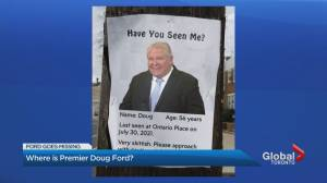 Questions raised over Ontario Premier Doug Ford's media availability (02:39)