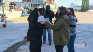 HMCS Toronto crews returns early after 191 days at sea (02:03)