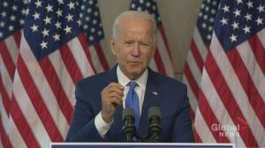 Biden says U.S. Supreme Court seat shouldn't be filled until after election