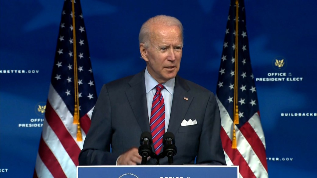 Click to play video 'U.S. election: Biden says inauguration must focus on keeping people safe'