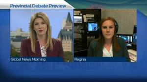 Sask. Party, NDP leaders face off in election debate tonight (04:08)