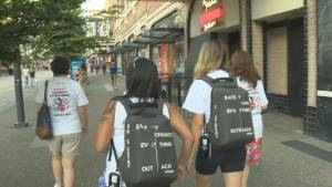 Local group patrolling Granville Strip as sex assaults rise in the city (01:55)