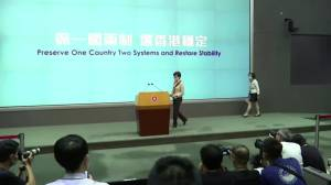 Hong Kong leader calls out U.S. 'double standard'
