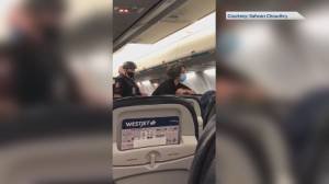 WestJet flight grounded after dispute over face covering for child under age of 2