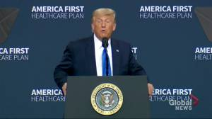President Donald Trump outlines his new America First Healthcare Plan