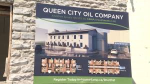 Work continues to transform an old Kingston industrial building into living quarters (02:04)