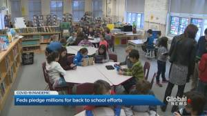 Feds add over $760 million to support Ontario's back-to-school plan (02:45)