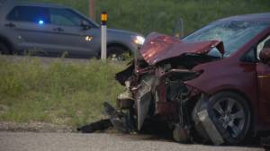 Motorcyclist killed in Deerfoot Trail collision (02:12)