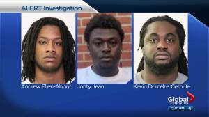 1 arrested, 2 wanted in sex assault, human trafficking investigation in Edmonton area (02:01)