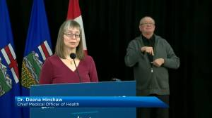 Hinshaw says Alberta is seeing a second wave of COVID-19 (03:34)
